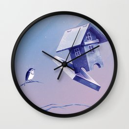 Freezing Bird...house Wall Clock