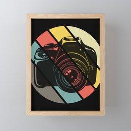Photographer retro camera vintage photography Framed Mini Art Print
