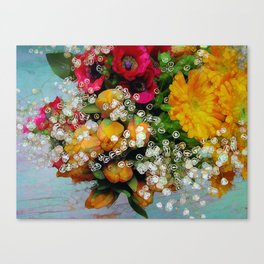 Funky Floral too Canvas Print