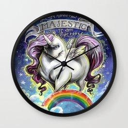 Majestic Unicorn Wall Clock