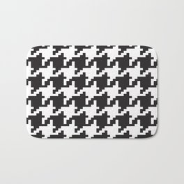 Houndstooth - Black & White Bath Mat