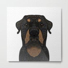 Rottweiler - Teddy Metal Print