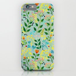 All you need is flowers iPhone Case