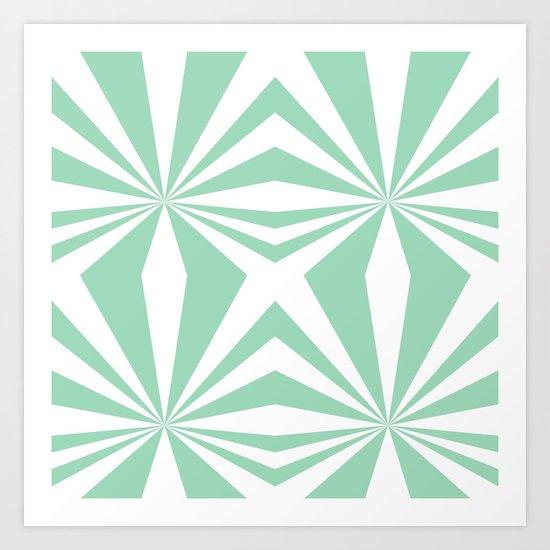 Mint Starburst #2 Art Print
