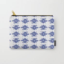 Blue Bees Carry-All Pouch