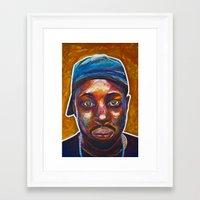 j dilla Framed Art Prints featuring 4 Dilla by Trey S Wilson
