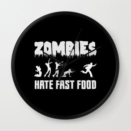 Halloween Vegan Hate Fast Food Cool Gift Idea Wall Clock
