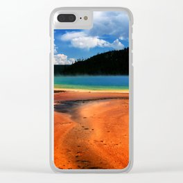 Grand Prismatic Spring in Yellowstone NP Clear iPhone Case