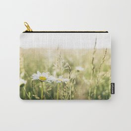 Oxeye Daisy among wild grasses. Norfolk, UK. Carry-All Pouch