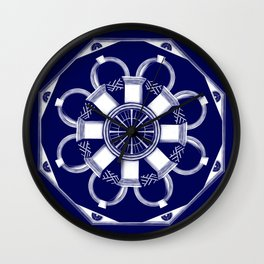 Jefferson Mandala 0001 Wall Clock