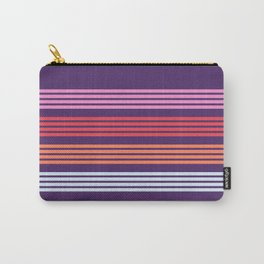 Naoie - Classic Purple Red Pink Retro Stripes Carry-All Pouch
