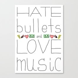 Hate/Love Canvas Print