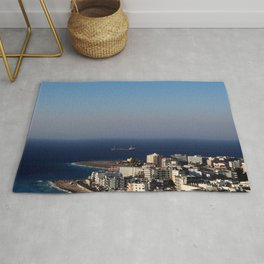 Rhodes town in Greece - aerial view Rug