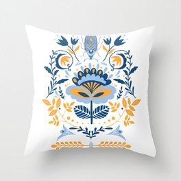 Scandinavian Folk Art 011 Throw Pillow