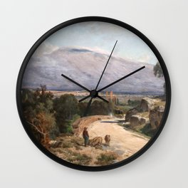 Jules Laurens - Mont Ventoux from the Road to Carpentras in Bedoin Wall Clock