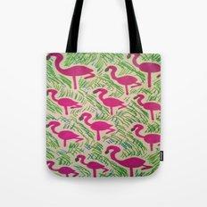 Tropical Flamingos Tote Bag