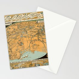 Map Of Los Angeles 1932 Stationery Cards