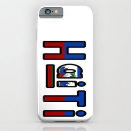 Haiti Font with Haitian Flag iPhone Case