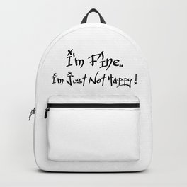 Not Happy Backpack