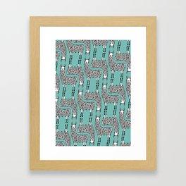 Llama Pattern Framed Art Print