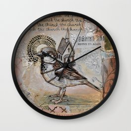Church Bird Wall Clock