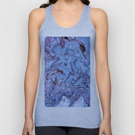 Periwinkle Abstract Acrylic Swirl Unisex Tank Top