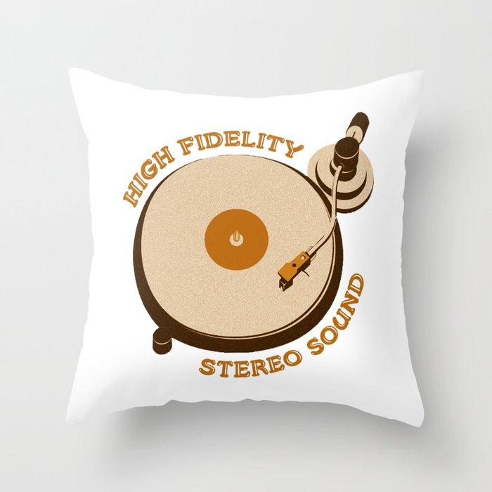 High Fidelity - Stereo Sound Throw Pillow