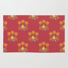 Waffle and Syrup (Raspberry Red) Rug
