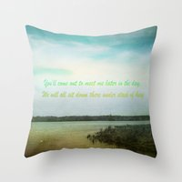 poem Throw Pillows featuring Summer Poem by Armine Nersisian