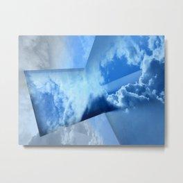 Tinkering Blue Metal Print