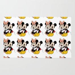 Cartoon Minnie Mickey mouse Rug