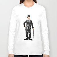 charlie chaplin Long Sleeve T-shirts featuring Charlie Chaplin by A Deniz Akerman