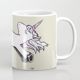 Exhausted Unicorn Coffee Mug