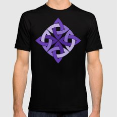 Purple Passion Knots Black MEDIUM Mens Fitted Tee