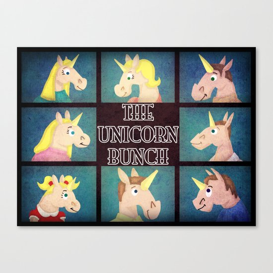 The Unicorn Bunch Canvas Print