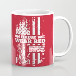 On Fridays We Wear Red Navy Family Coffee Mug