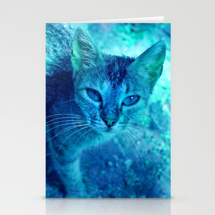 cats eyes: ischia Stationery Cards
