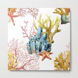 Sea Life Pattern 11 Metal Print