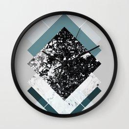 Geometric Textures 8 Wall Clock