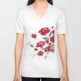 Bouquet of roses Unisex V-Neck