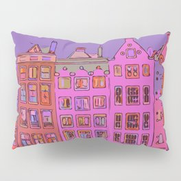 Canal houses Amsterdam the Netherlands Pillow Sham