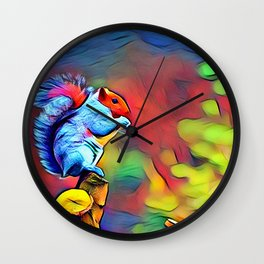 Adorable Squirrel Wall Clock