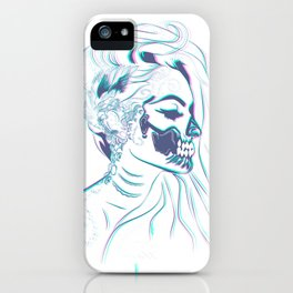 Candy Skull Mermaid iPhone Case