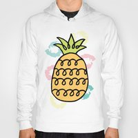 pineapples Hoodies featuring Playful Pineapples by Studio Longoria