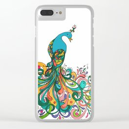 peacock for autumn Clear iPhone Case
