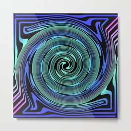 Spiralling out of Control Metal Print