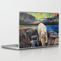 northern lights Laptop & iPad Skins featuring Northern Lights by Michael Creese