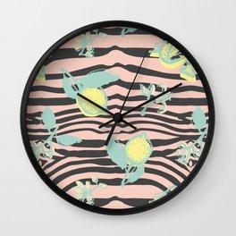 Citric zebra Wall Clock