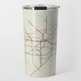Minimal London Subway Map Travel Mug