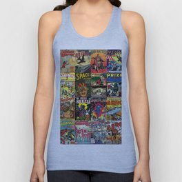 Comic Book Collage II Unisex Tank Top